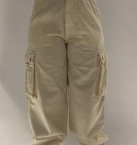 Semicouture Semicouture locker sitzende Cargo Jeans Creme