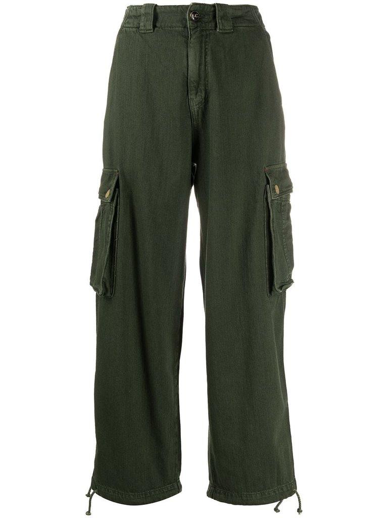 Semicouture Semicouture locker sitzende Cargo Jeans grün