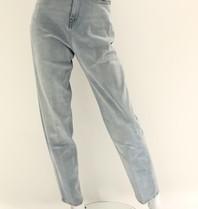 Erika Cavallini Erika Cavallini losvallende denim jeans blauw