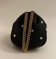 Philosophy Di Lorenzo Serafini Philosophy Di Lorenzo Serafini crossbody tas met steentjes en chain zwart