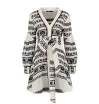 Devotion Devotion Zakar Eleni dress with print black and white