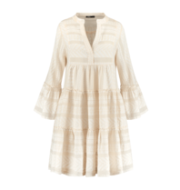 Devotion Devotion Zakar dress with ecru white print