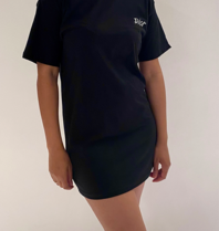 FALLON Amsterdam FALLON Amsterdam Dior T-shirt jurk zwart