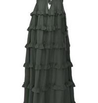 Devotion Devotion Gesthimani maxi jurk carbone