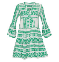 Devotion Devotion Ella dress with print and valance green white