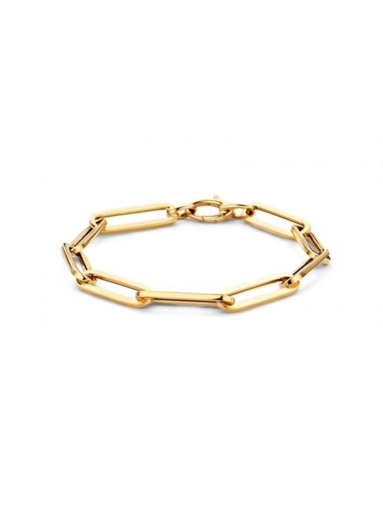 Just Franky Just Franky Charm Bracelet geelgoud