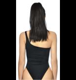 La Sisters LA Sisters Cut Out Swimsuit zwart