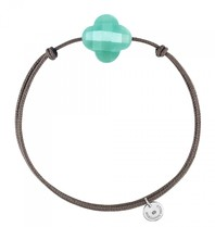 Morganne Bello Morganne Bello cord bracelet Amazonite stone turquoise