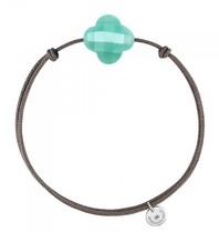 Morganne Bello Morganne Bello koord armband Amazoniet steen turquoise