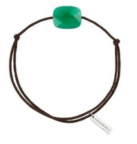 Morganne Bello Morganne Bello cord bracelet Agate stone green