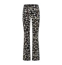 deblon sports Deblon Sports cropped flared sports leggings leopard