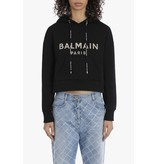Balmain Balmain Kurzer Pullover mit Logo Schwarzgold