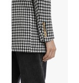 Balmain Balmain oversized double-breasted blazer pied de poule black and white