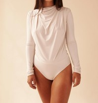 Body by Olcay Body By Olcay Gathered long sleeve body stone