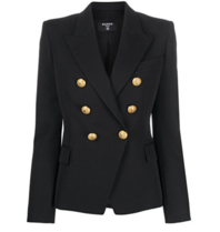 Balmain Balmain blazer with gold colored buttons in black