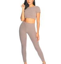 La Sisters LA Sisters fluffy sporty two piece ash brown