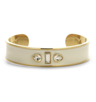Souvenirs de Pomme Souvenirs de Pomme Sophia Cuff Enamel bracelet gold ecru