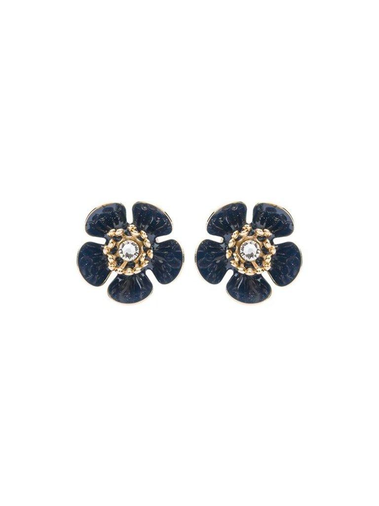 Souvenirs de Pomme Souvenirs de Pomme Gina mini shortie earrings gold black