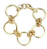 Souvenirs de Pomme Souvenirs de Pomme Rounds large chain bracelet gold