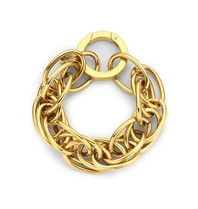 Souvenirs de Pomme Souvenirs de Pomme Snake statement large bracelet gold