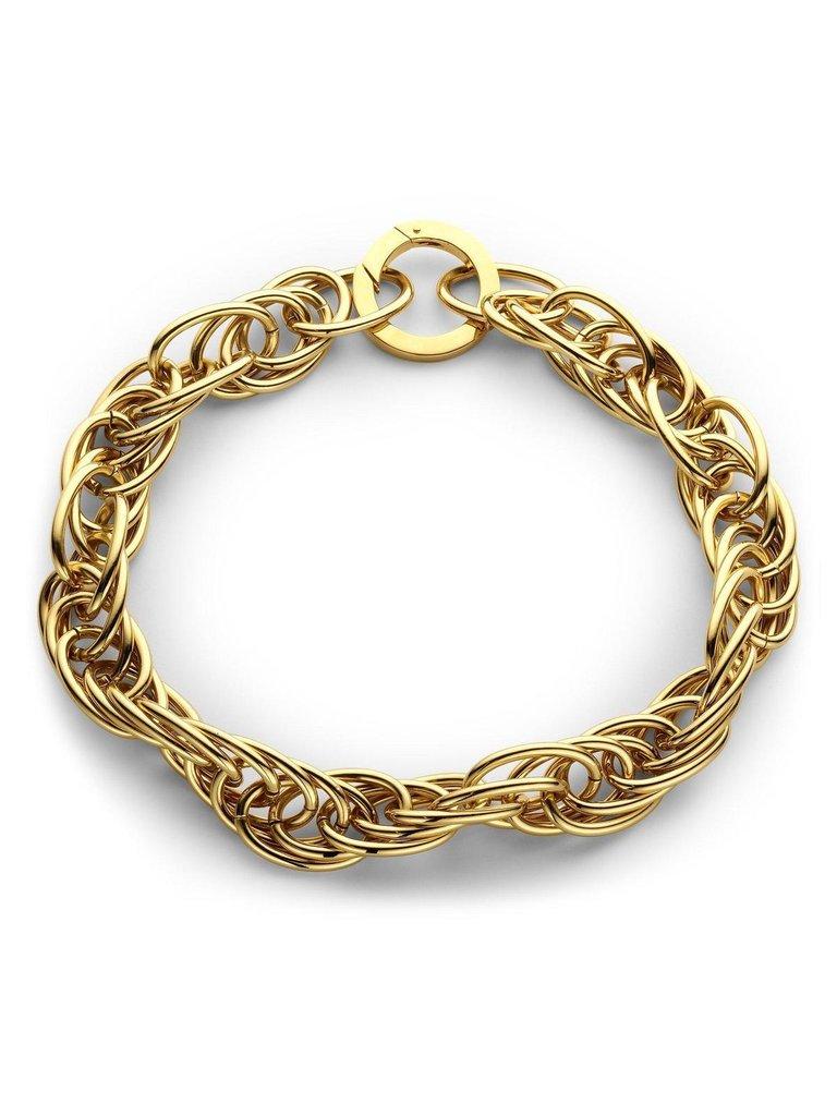 Souvenirs de Pomme Souvenirs de Pomme Snake statement large necklace gold