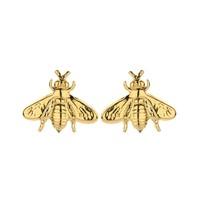 Souvenirs de Pomme Souvenirs de Pomme Bee shortie earrings gold