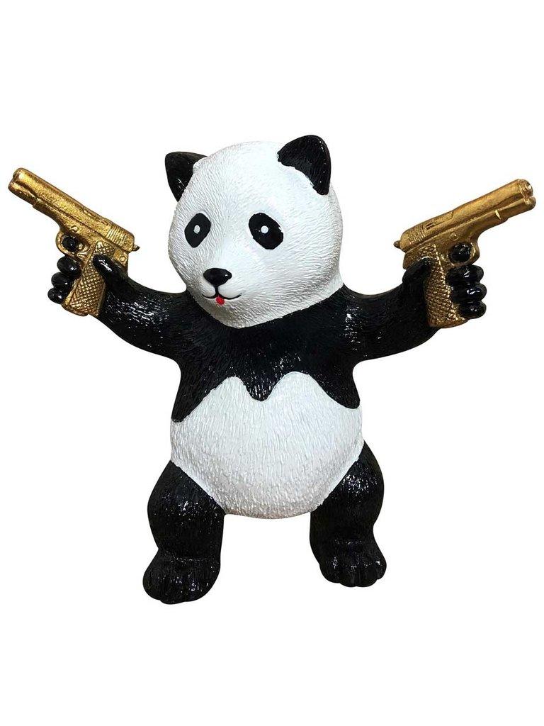 Van Apple Art Van Apple Art Street Panda beeld goud