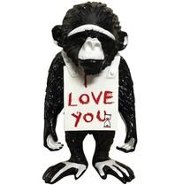 Van Apple Art Van Apple Art Street monkey beeld I love you
