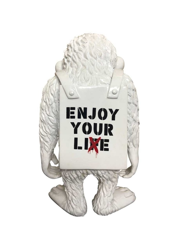 Van Apple Art Von Apple Art Street Affenbild Genießen Sie Ihr Leben