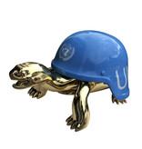 Van Apple Art Von Apple Art Un blaues Helmbild