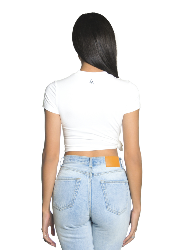 La Sisters LA Sisters Side Knot Crop Top weiß