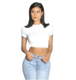La Sisters LA Sisters Side knot crop top white