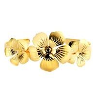 Souvenirs de Pomme Souvenirs de Pomme Blumenmanschette Armband Gold