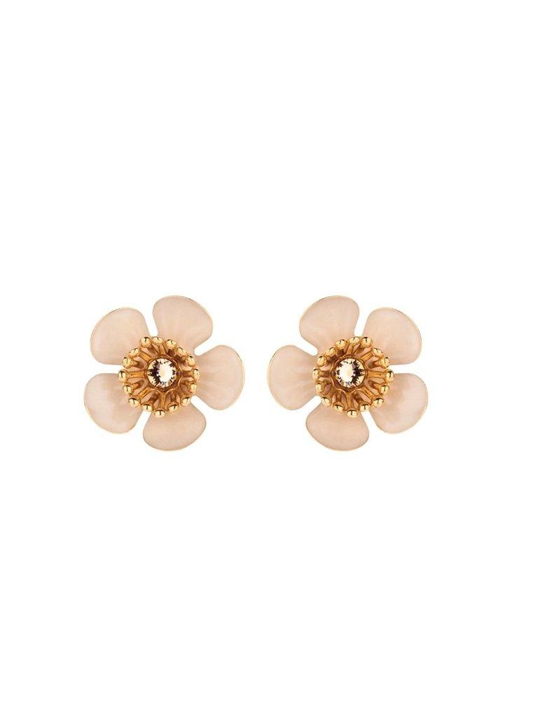 Souvenirs de Pomme Souvenirs de Pomme Gina mini shortie earrings gold nude