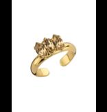 Souvenirs de Pomme Souvenirs de Pomme Navette ring nude gold