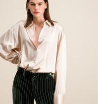 DMN Paris DMN Paris Chloe zijde blouse creme
