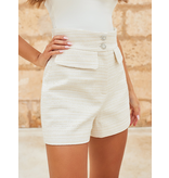 Lavish Alice Lavish Alice high waisted blouce short beige