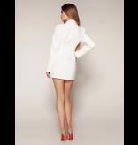 Luscious The Label Luscious The Label Khloe corset blazer jurk wit