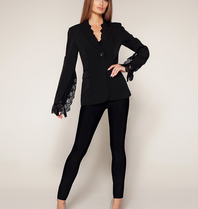 Luscious The Label Luscious The Label Jada Blazer with lace details black