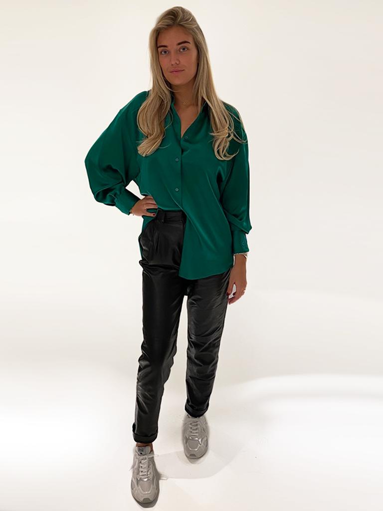 DMN Paris DMN Paris Chloe zijde blouse groen