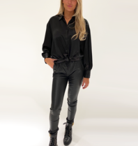 DMN Paris DMN Paris Chloe zijde blouse zwart