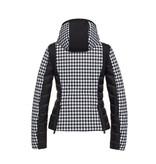 Goldbergh Goldbergh Kate ski jas met pied-a-poule print zwart wit