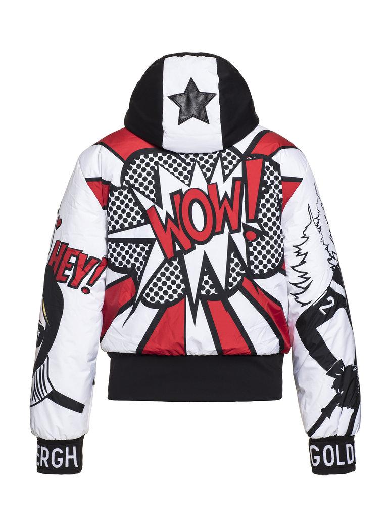 Goldbergh Goldbergh Wow ski jas met pop-art print multicolor
