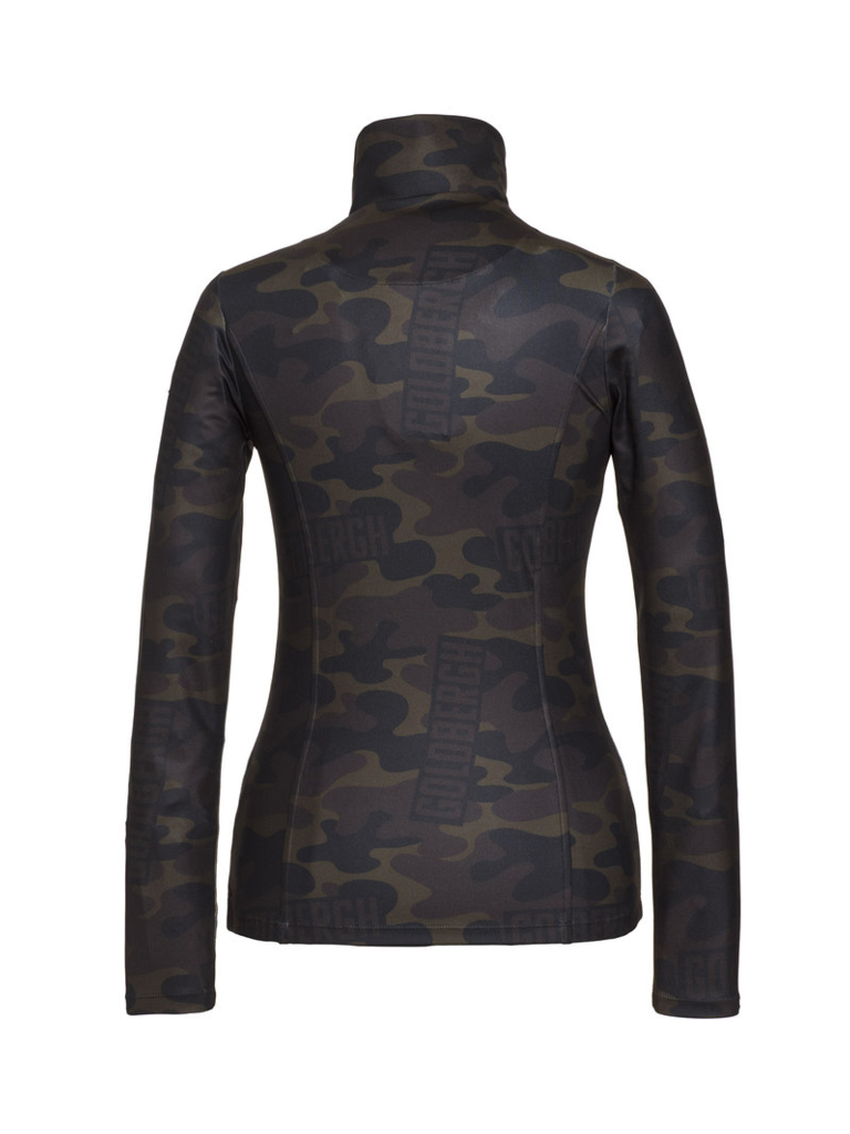 Goldbergh Goldbergh Bark pully met camouflageprint multicolor