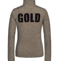 Goldbergh Goldbergh Sparkle pully met tekst goud