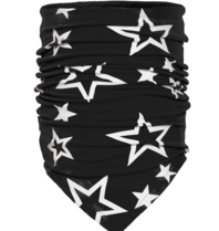 Goldbergh Goldbergh Estelle nekwarmer sterrenprint zwart wit