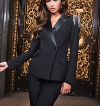 Lavish Alice Lavish Alice Ruby Tux blazer with black strass details