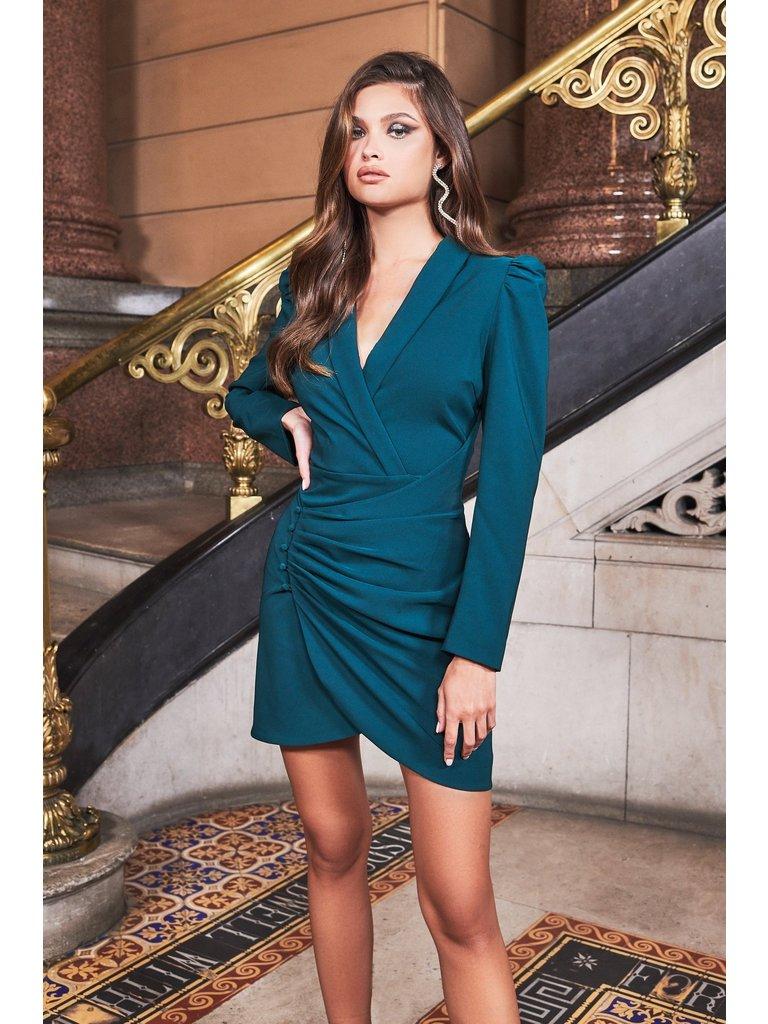 Lavish Alice Lavish Alice Ruby Holley wrap jurk groen