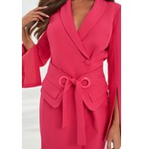 Lavish Alice Lavish Alice Utility eyelet dress with belt pink