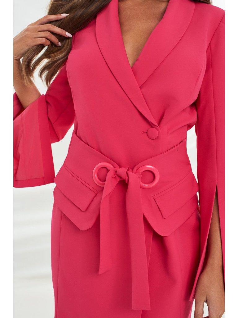 Lavish Alice Lavish Alice Utility eyelet jurk met riem roze